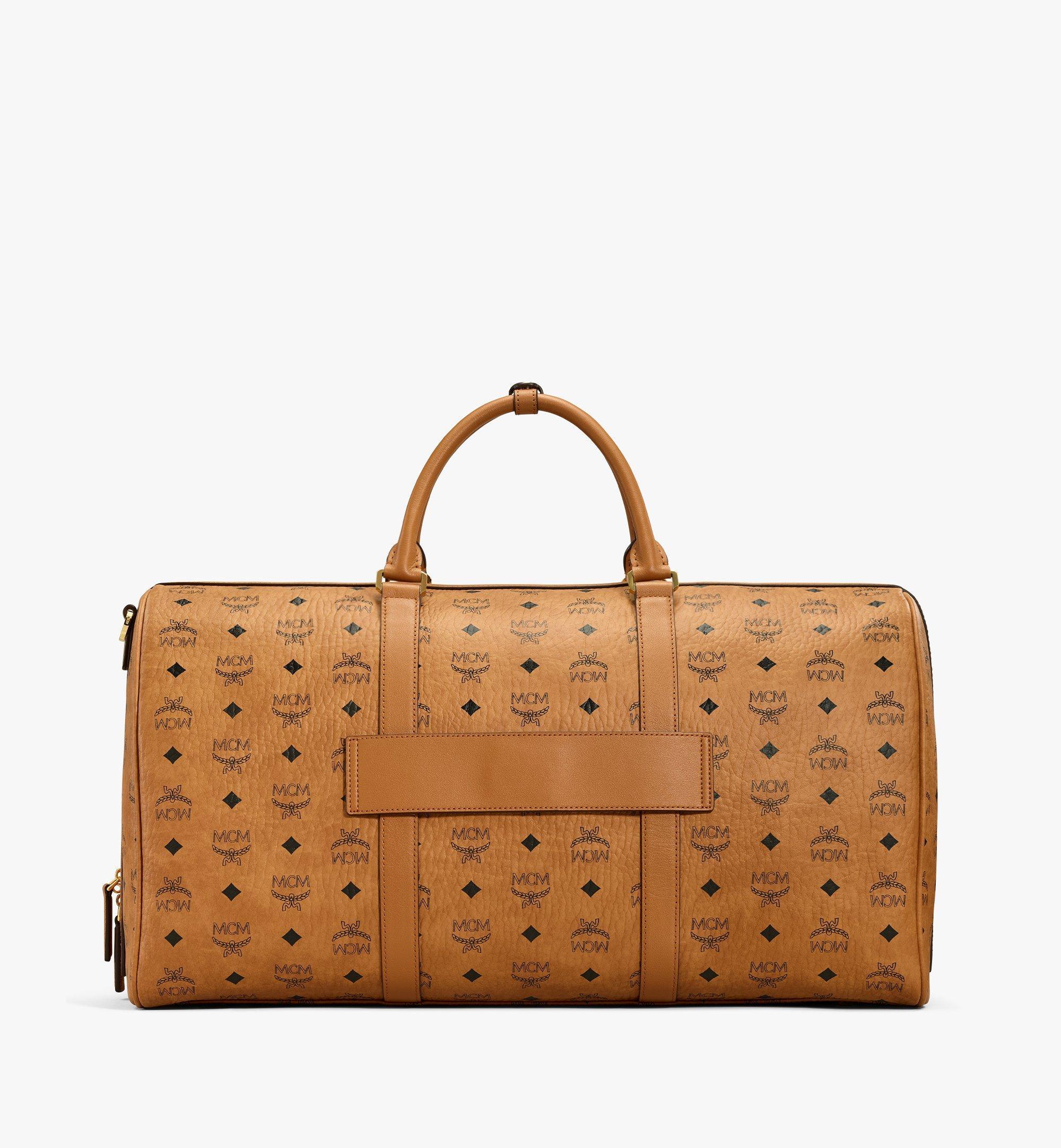 MCM Traveler Weekender Bag in Visetos Cognac MMVAAVY02CO001 Alternate View 3