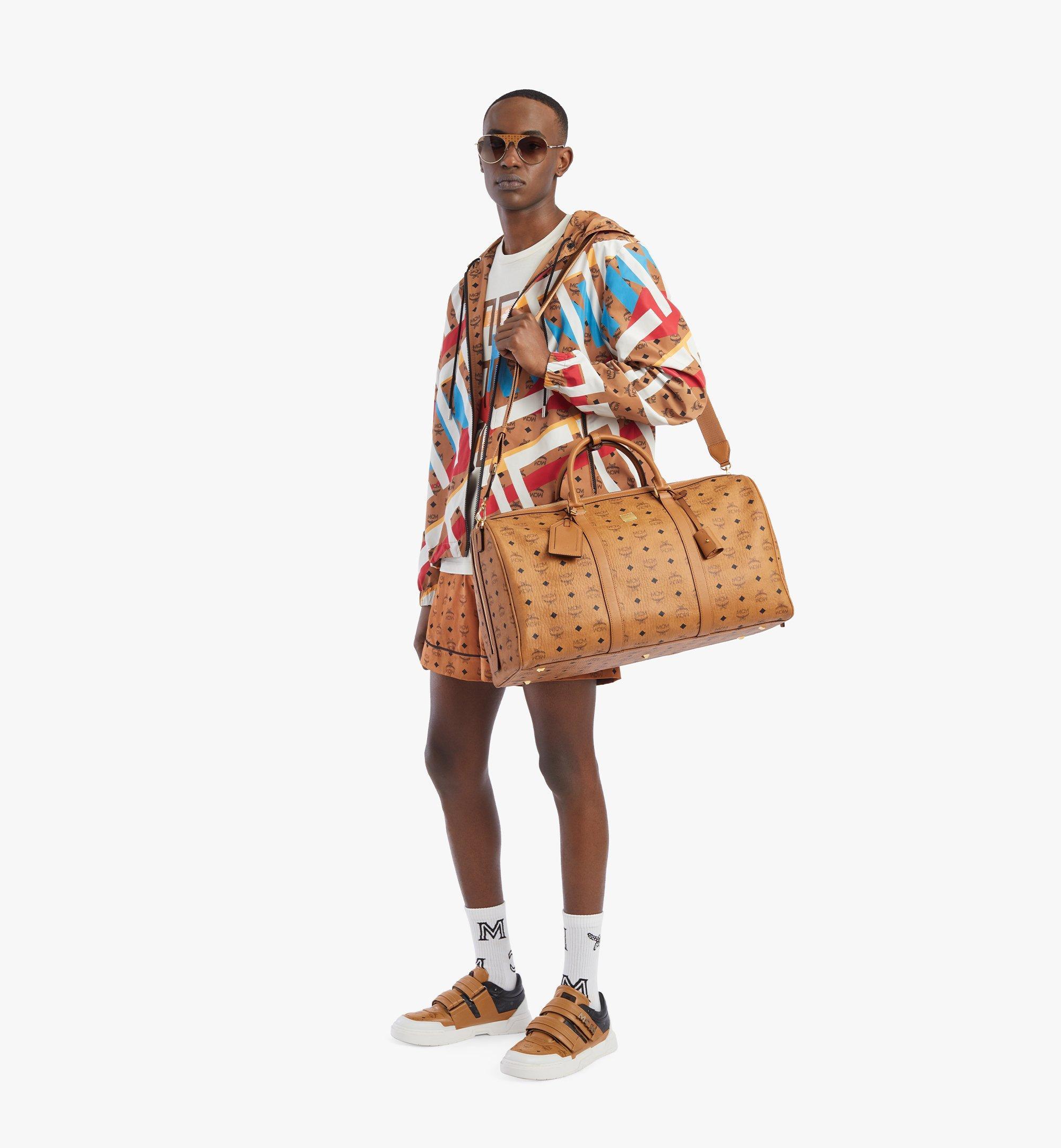 MCM Traveler Weekender Bag in Visetos Cognac MMVAAVY02CO001 Alternate View 4