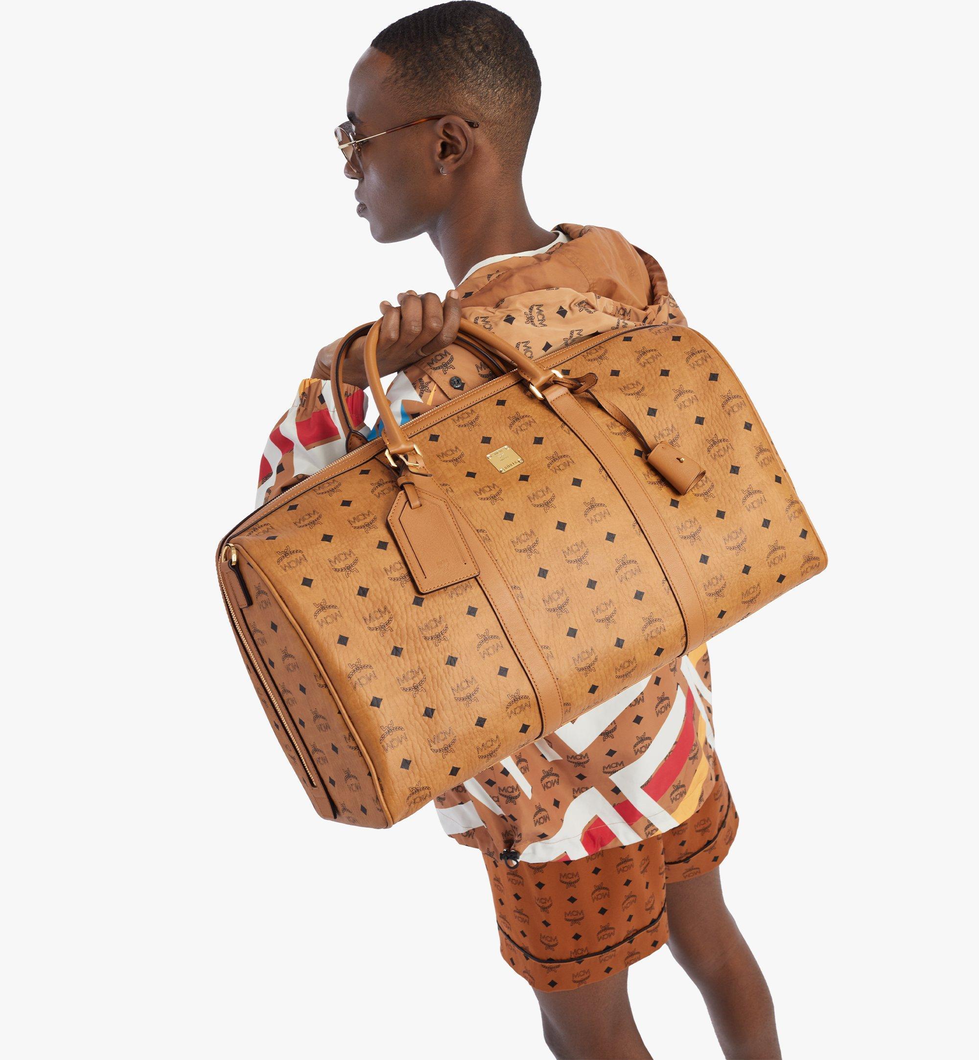 MCM Traveler Weekender Bag in Visetos Cognac MMVAAVY02CO001 Alternate View 2