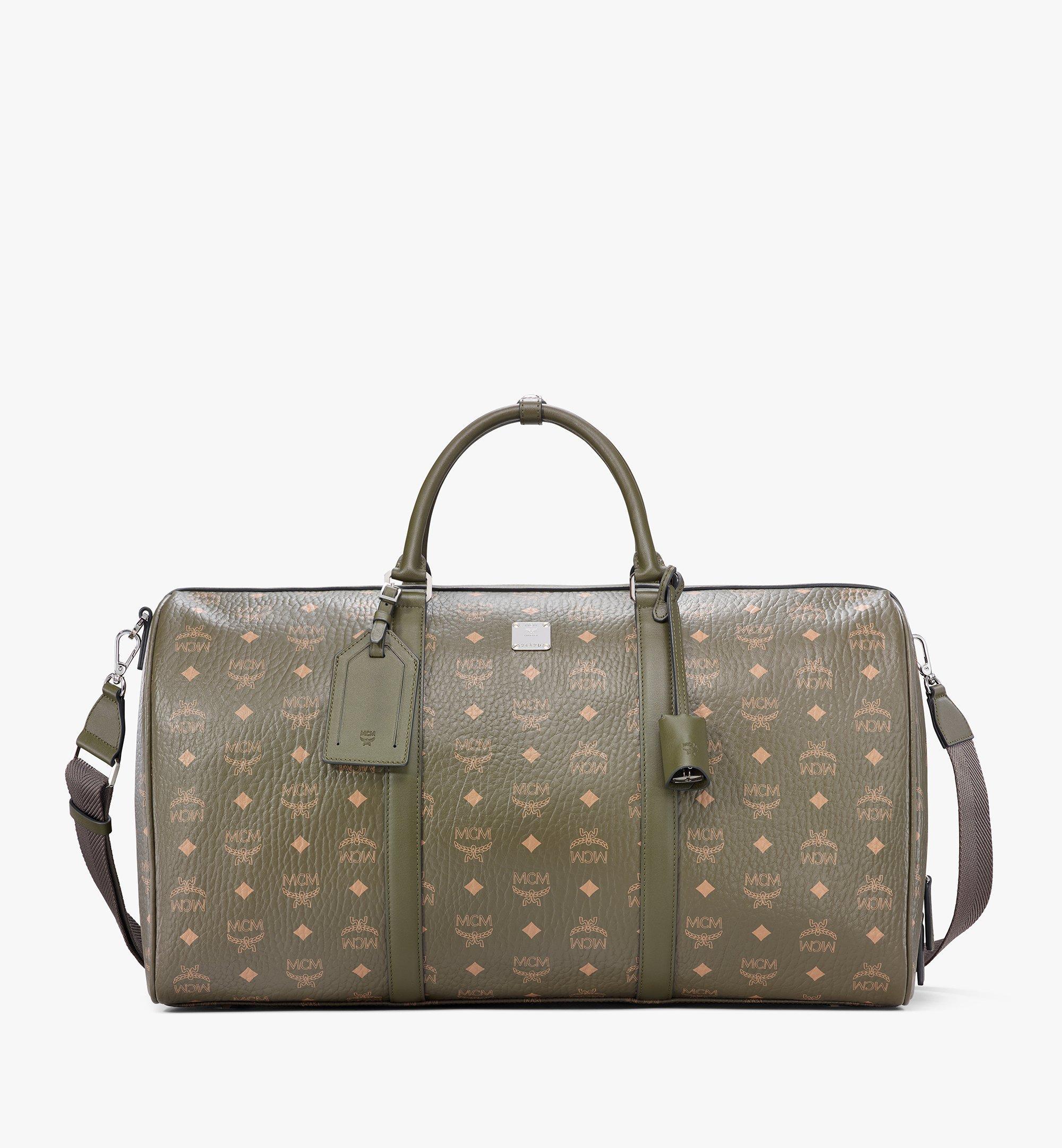 MCM Traveler Weekender Bag in Visetos Green MMVAAVY02JH001 Alternate View 1