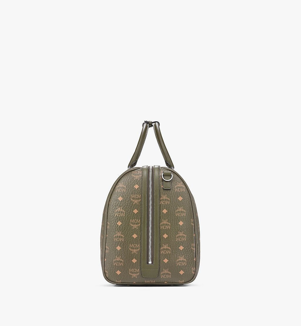 MCM Traveler Weekender Bag in Visetos Green MMVAAVY02JH001 Alternate View 1
