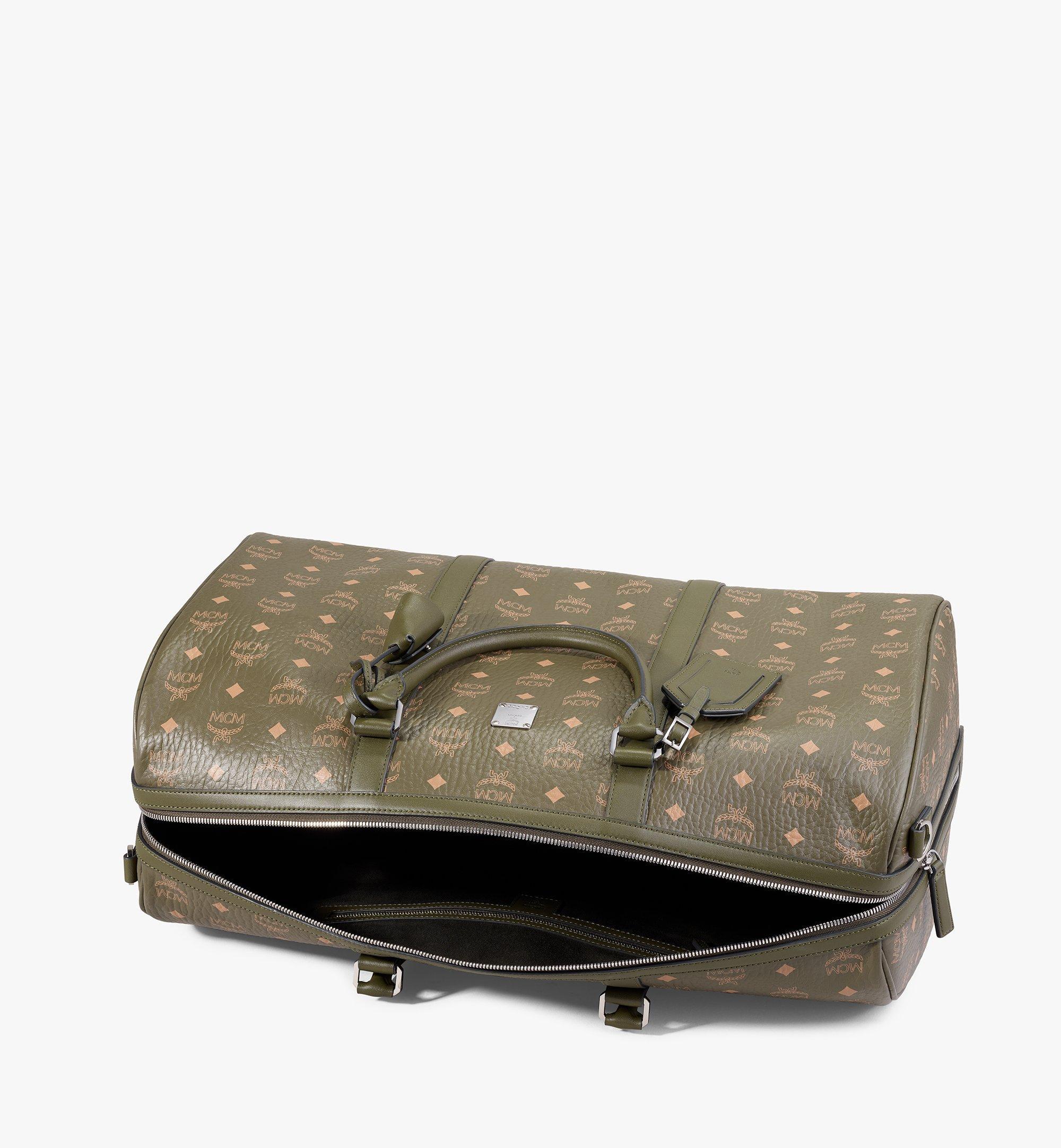 MCM Traveler Weekender Bag in Visetos Green MMVAAVY02JH001 Alternate View 2