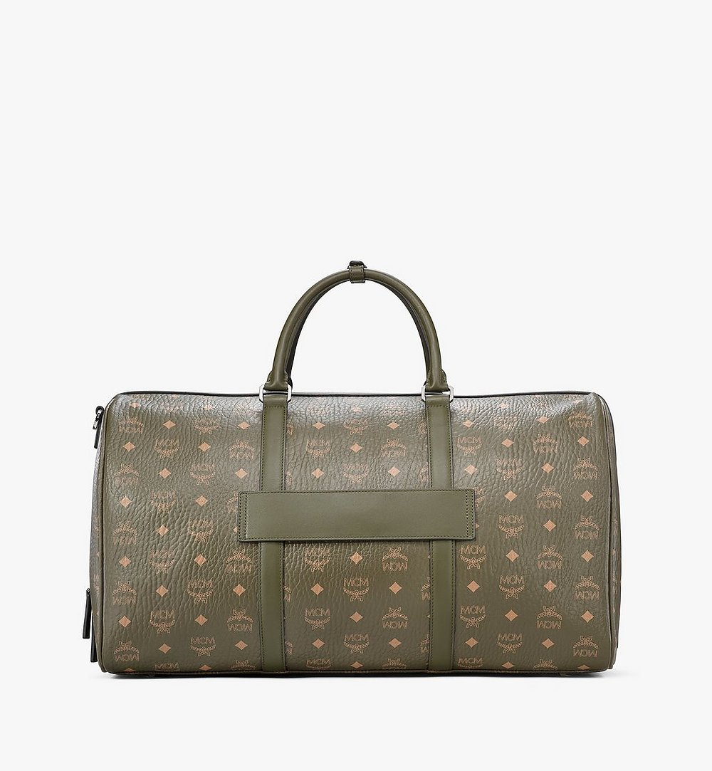 MCM Traveler Weekender Bag in Visetos Green MMVAAVY02JH001 Alternate View 3