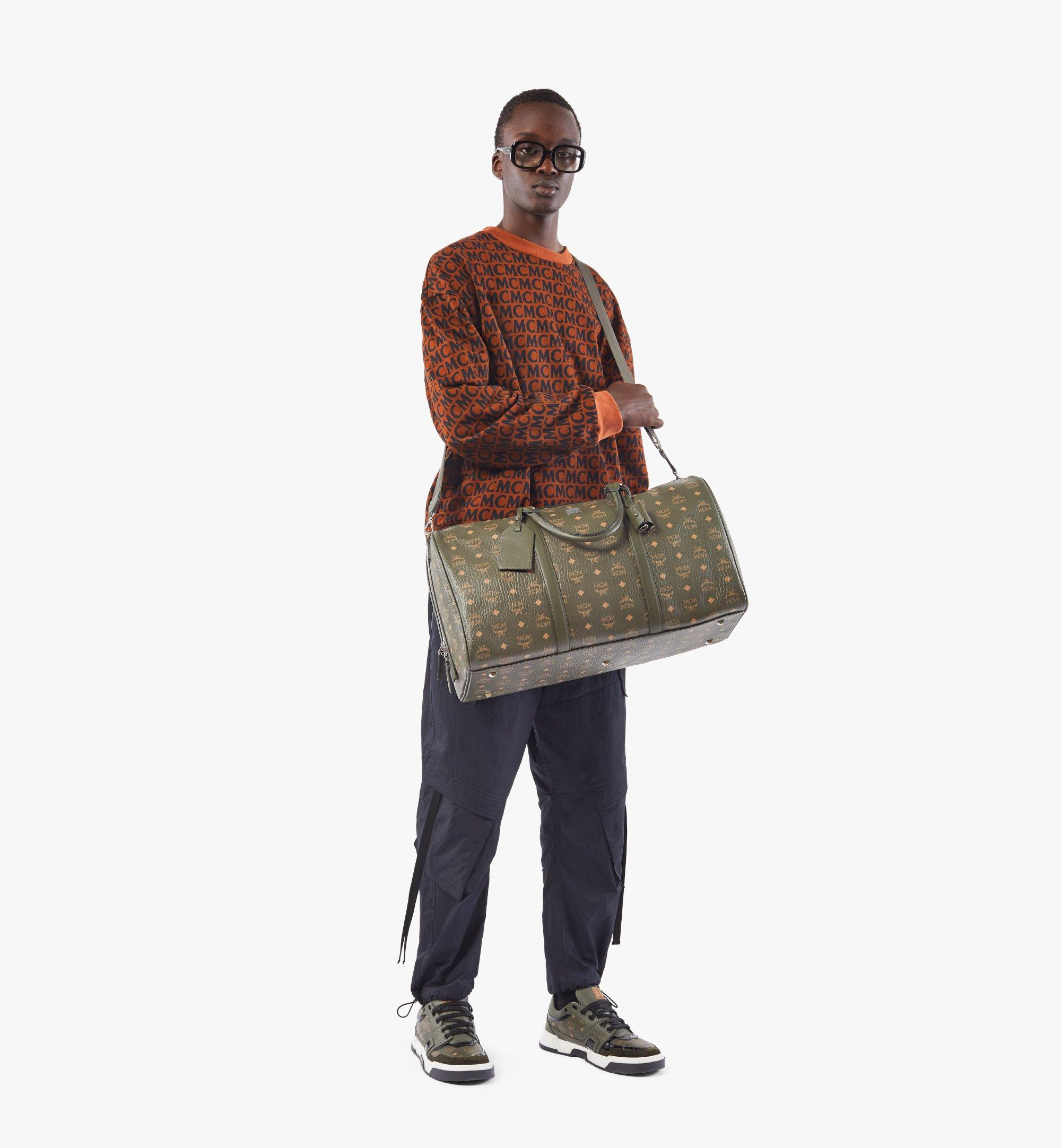 MCM Traveler Weekender Bag in Visetos Green MMVAAVY02JH001 Alternate View 3
