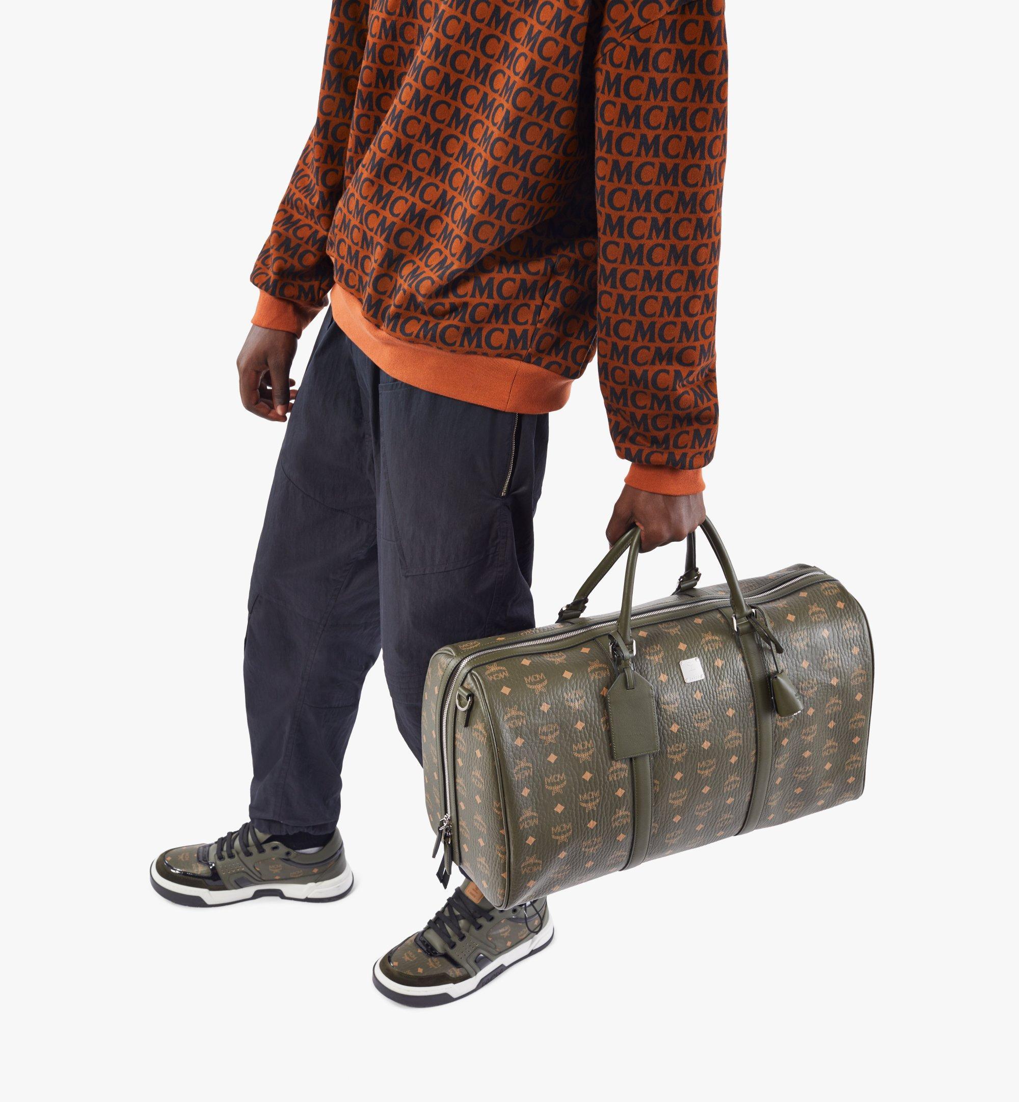MCM Traveler Weekender in Visetos Black MMVAAVY02JH001 Alternate View 7