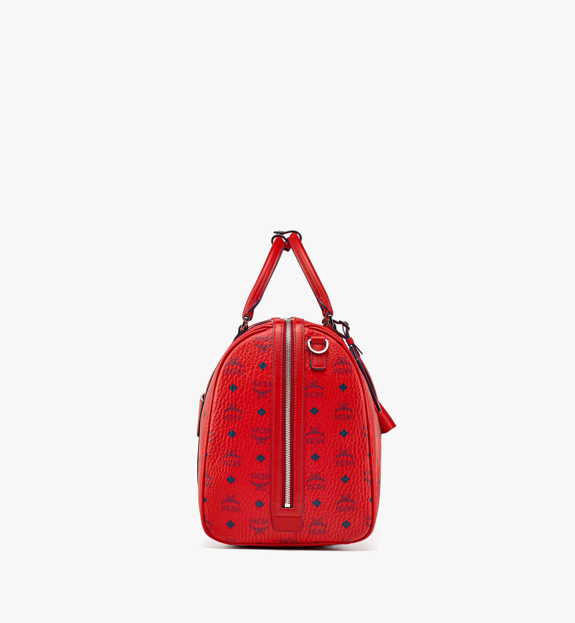 MCM Traveler Weekender Bag in Visetos  MMVAAVY02XC001 Alternate View 1