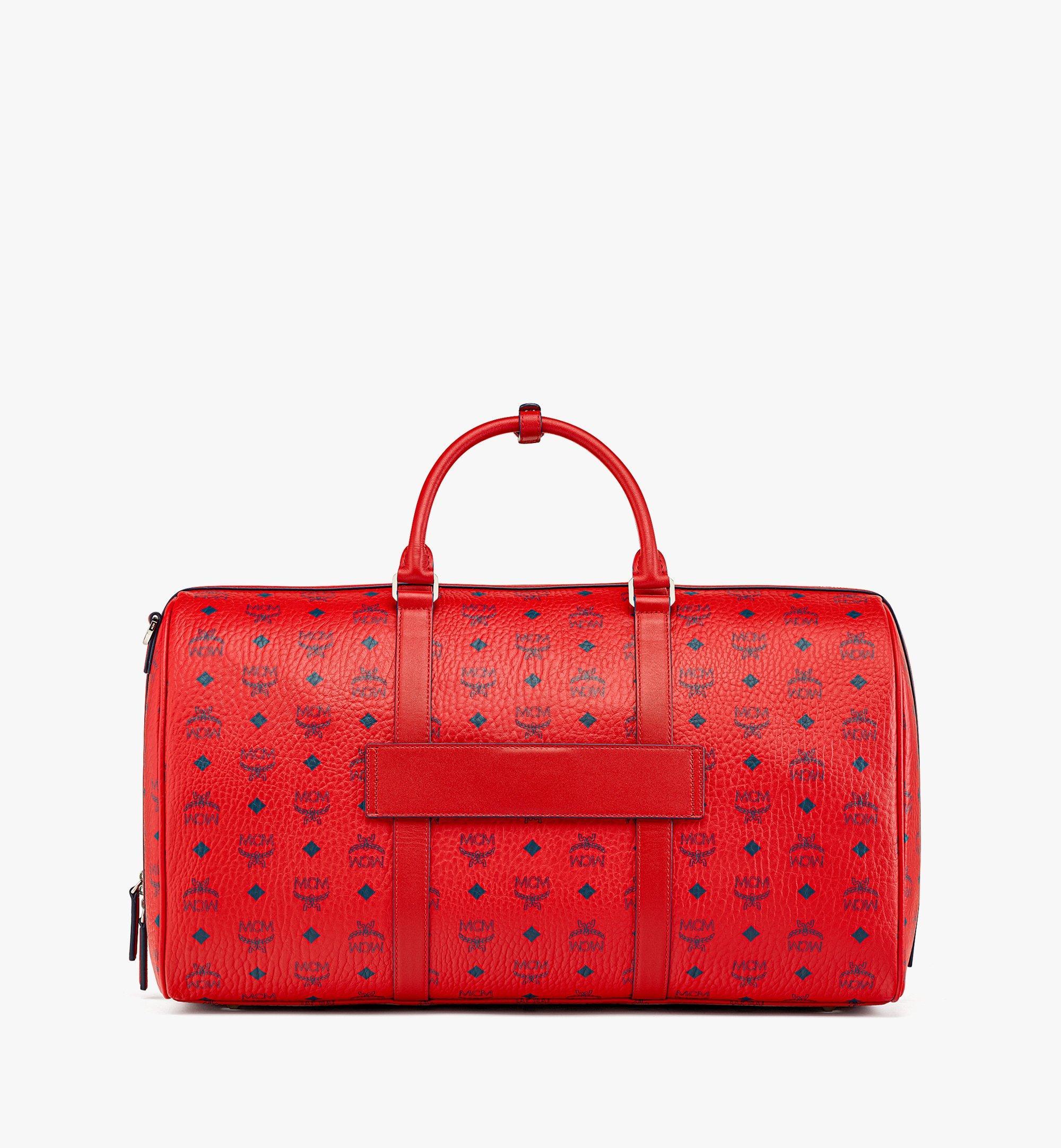 MCM Traveler Weekender Bag in Visetos  MMVAAVY02XC001 Alternate View 3