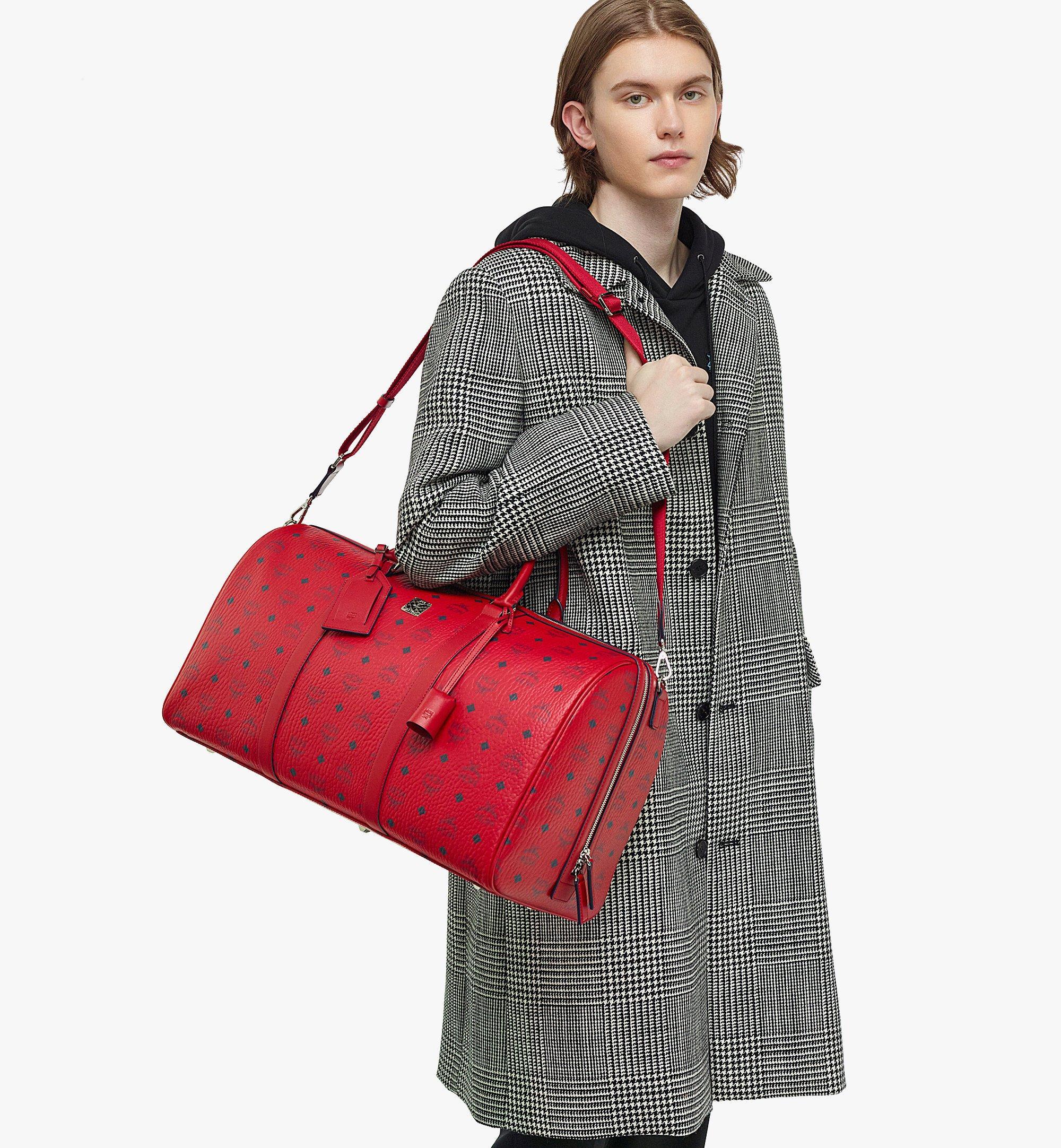 MCM Traveler Weekender Bag in Visetos  MMVAAVY02XC001 Alternate View 2