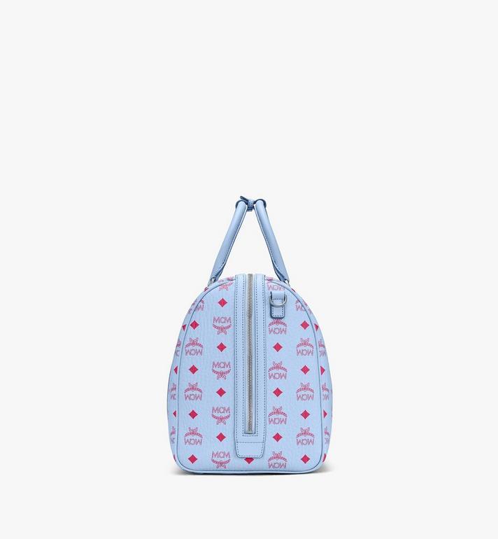 MCM Traveler Weekender Bag in Visetos Blue MMVASVY02H2001 Alternate View 2