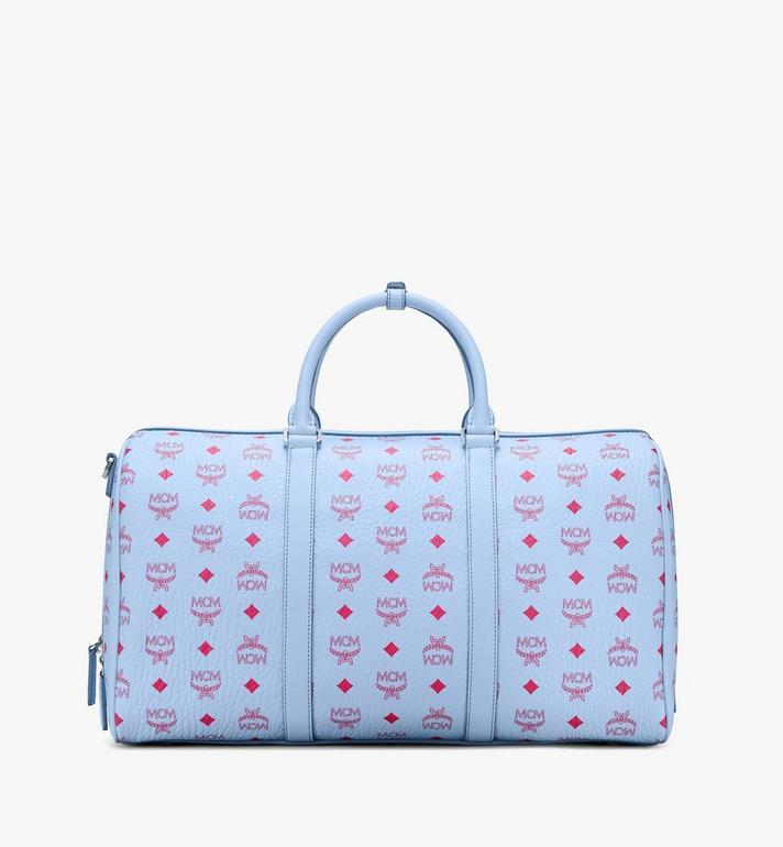 MCM Traveler Weekender Bag in Visetos Blue MMVASVY02H2001 Alternate View 3