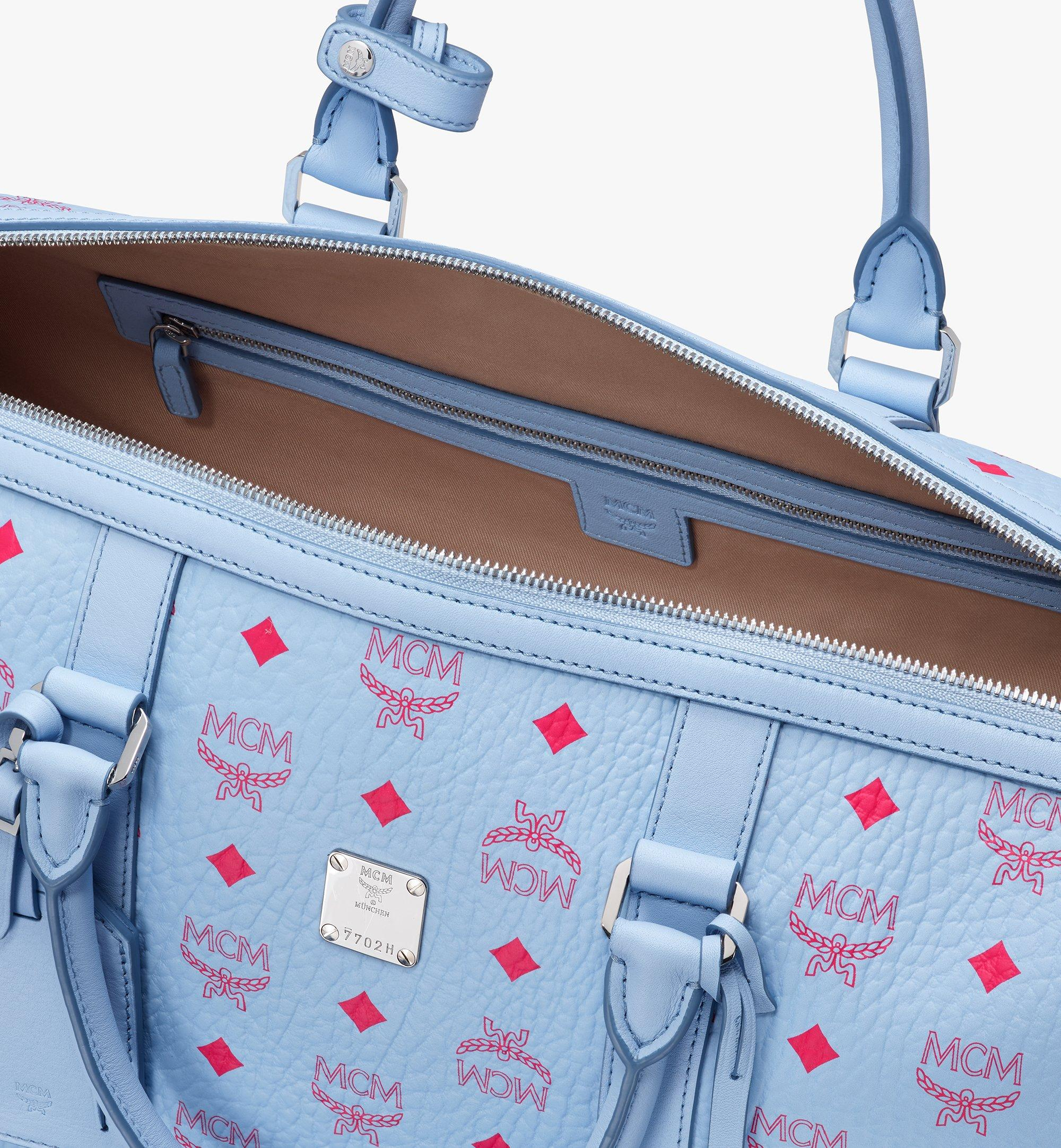 MCM Traveler Weekender Bag in Visetos Blue MMVASVY02H2001 Alternate View 4