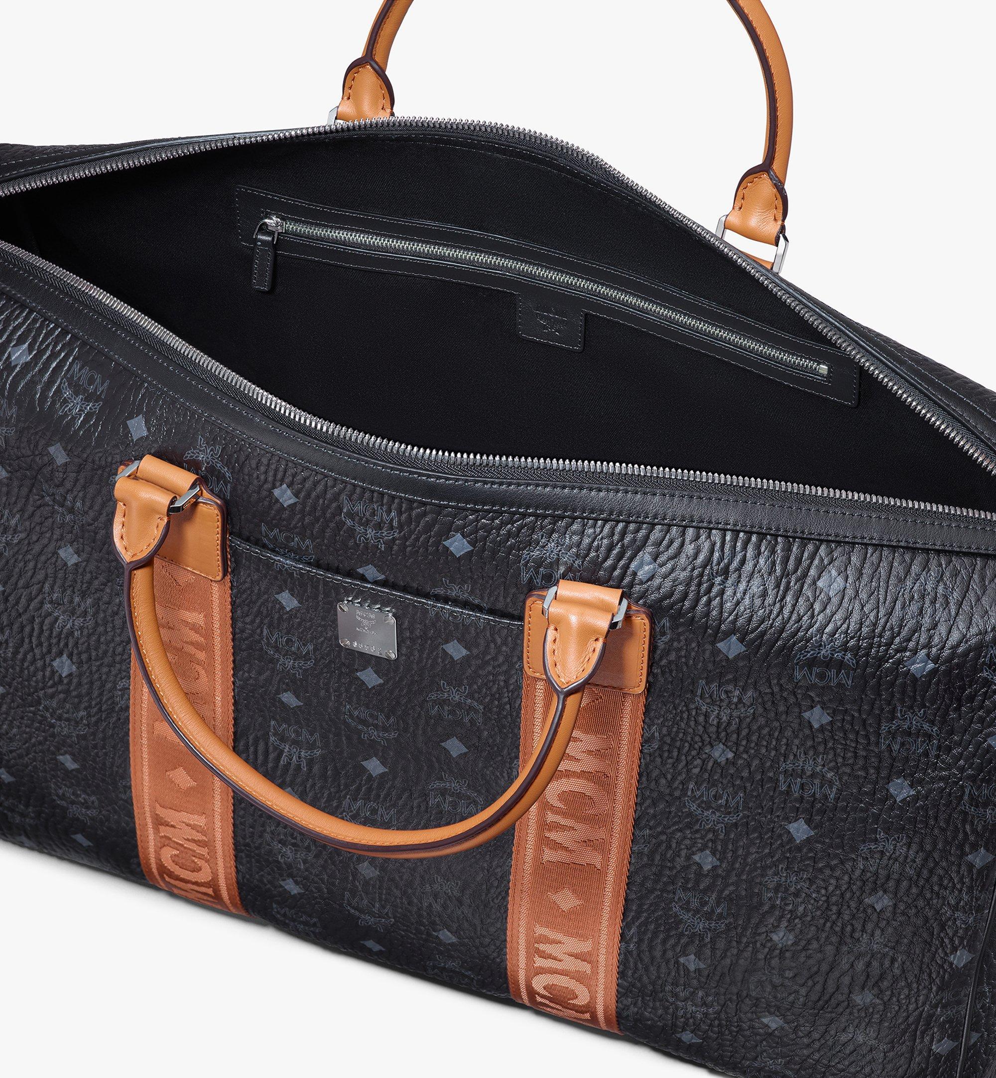 55 cm 22 in Traveler Weekender in Visetos Black | MCM® DE