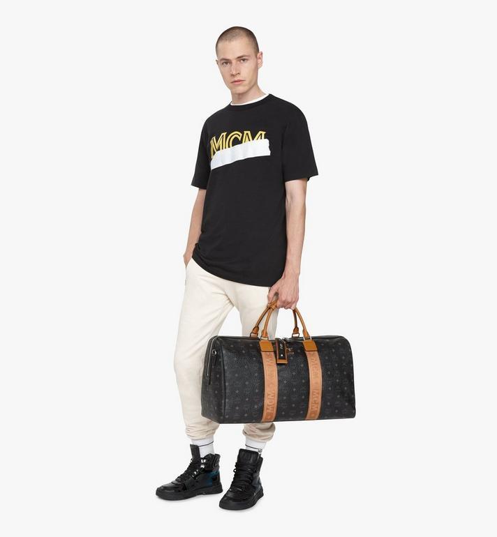 MCM Traveler Weekender Bag in Visetos Black MMVASVY03BK001 Alternate View 5