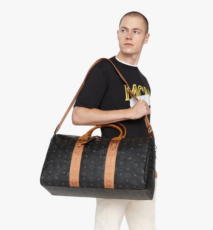 MCM Traveler Weekender Bag in Visetos Black MMVASVY03BK001 Alternate View 6