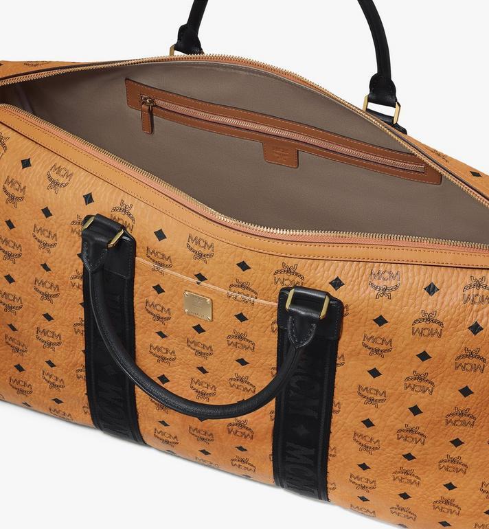 MCM Traveler Weekender Bag in Visetos Cognac MMVASVY03CO001 Alternate View 4