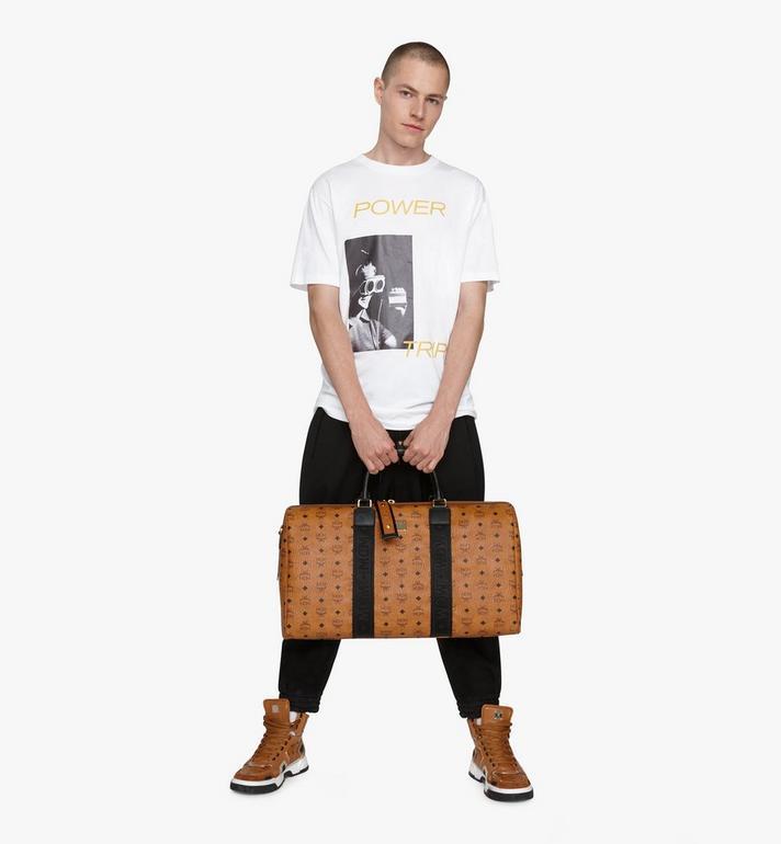 MCM Traveler Weekender Bag in Visetos Cognac MMVASVY03CO001 Alternate View 5