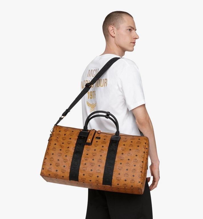MCM Traveler Weekender Bag in Visetos Cognac MMVASVY03CO001 Alternate View 6