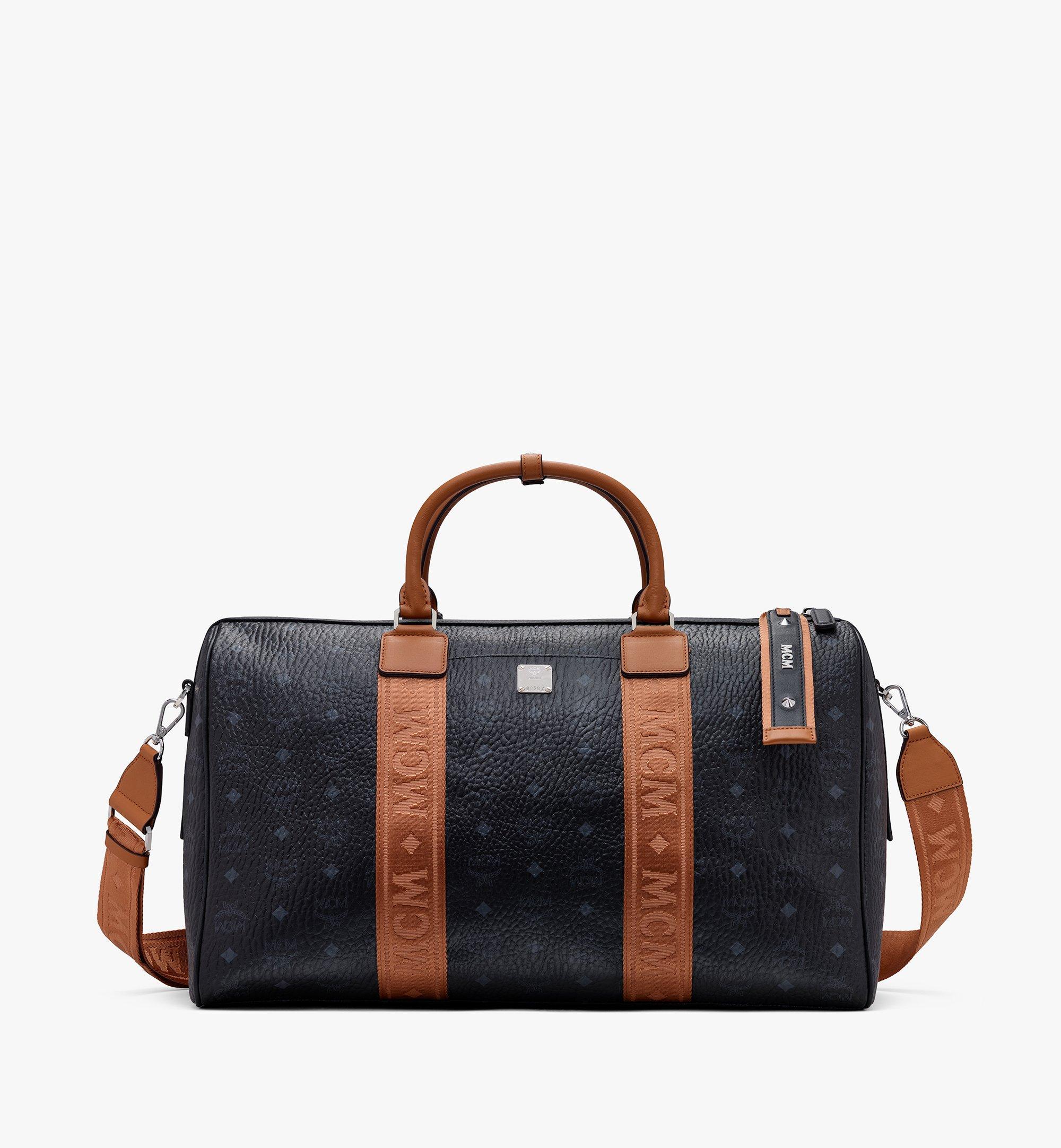 MCM Traveler Weekender Bag in Visetos Black MMVASVY04BK001 Alternate View 1