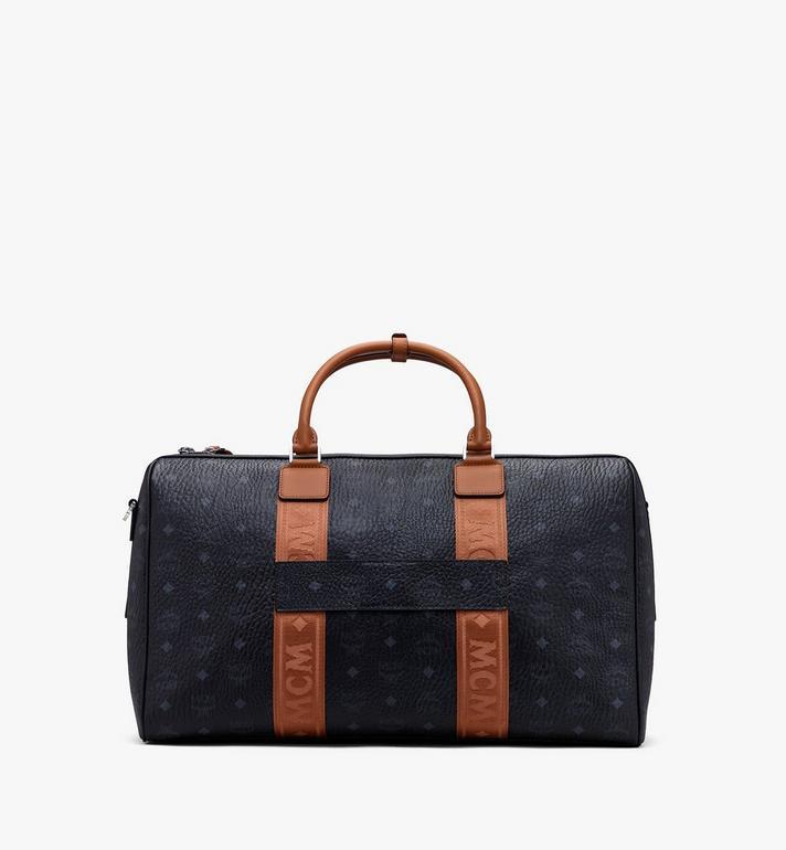 MCM Traveler Weekender Bag in Visetos Black MMVASVY04BK001 Alternate View 3