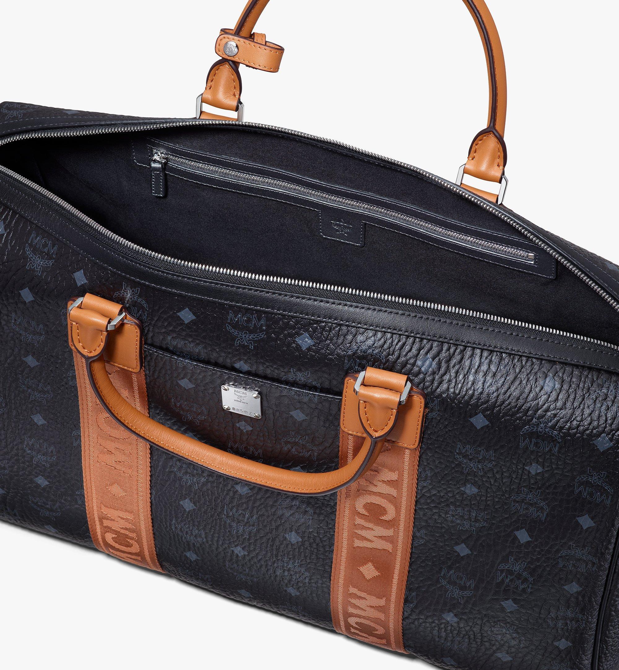 MCM Traveler Weekender Bag in Visetos Black MMVASVY04BK001 Alternate View 4