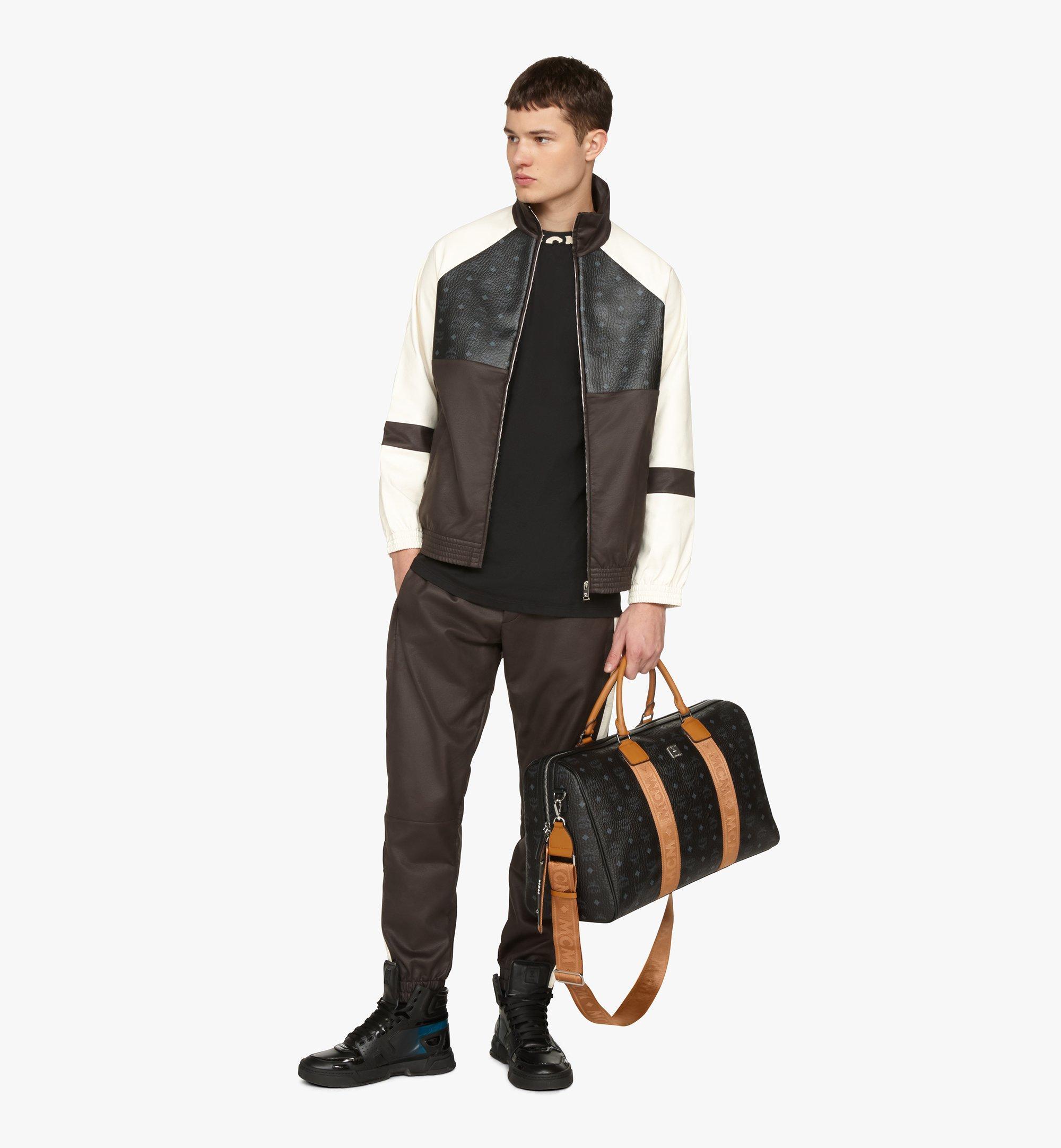 MCM Traveler Weekender Bag in Visetos Black MMVASVY04BK001 Alternate View 5