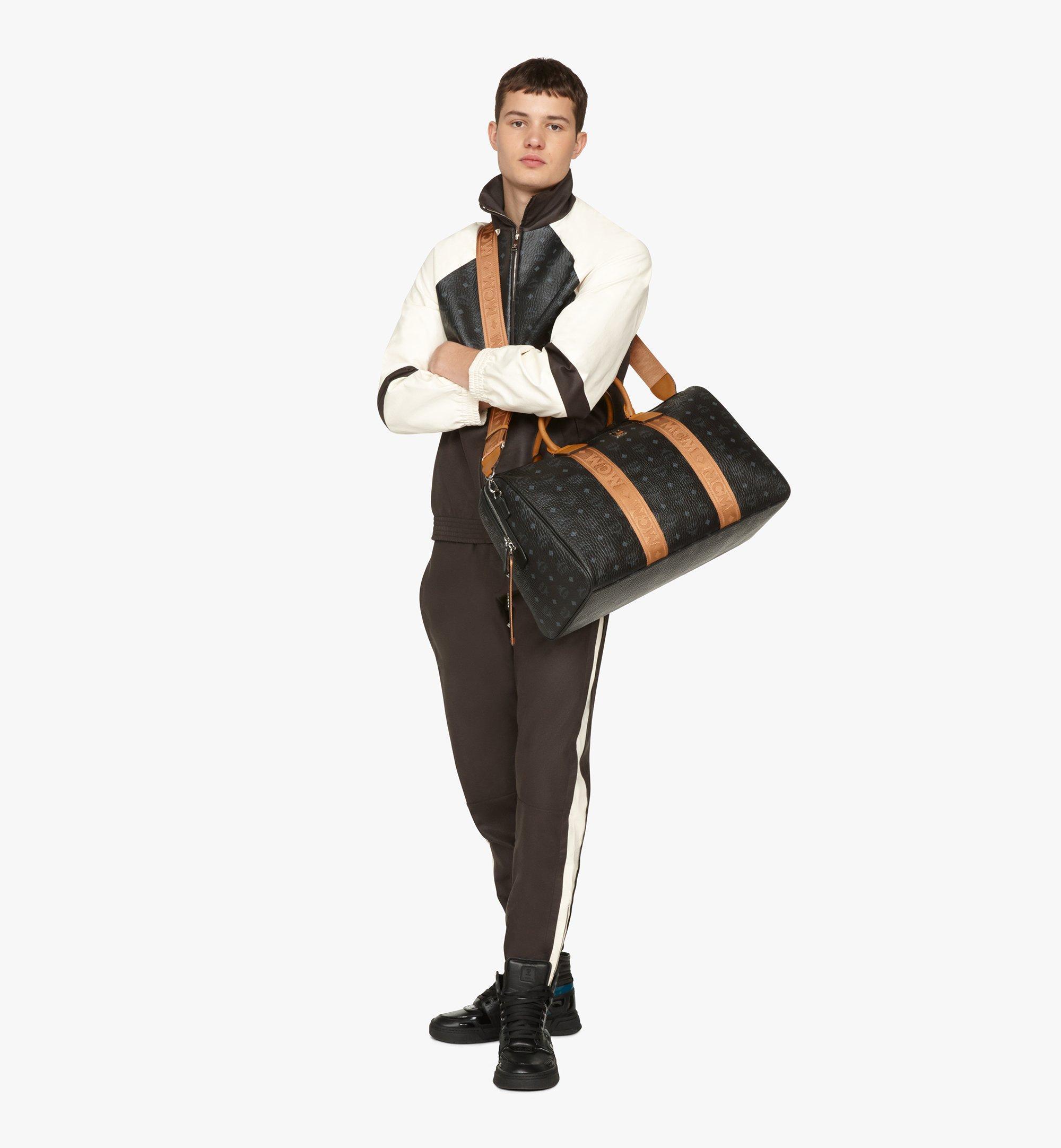 MCM Traveler Weekender Bag in Visetos Black MMVASVY04BK001 Alternate View 6