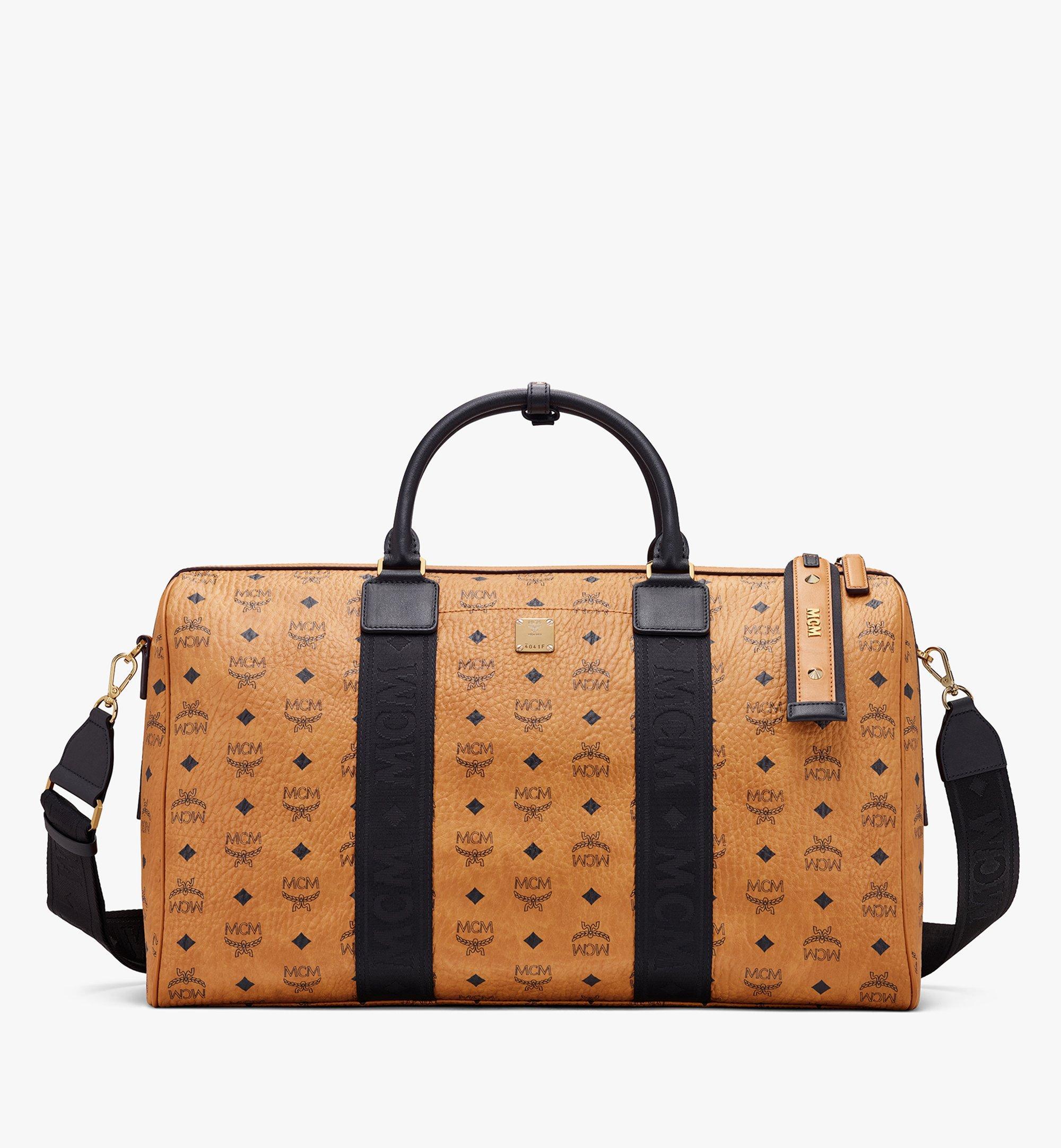 MCM Traveler Weekender Bag in Visetos Cognac MMVASVY04CO001 Alternate View 1