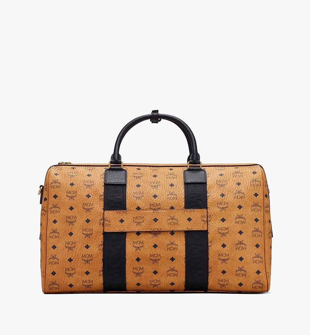 MCM Traveler Weekender Bag in Visetos Cognac MMVASVY04CO001 Alternate View 2
