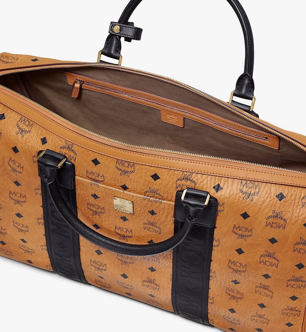 MCM Traveler Weekender Bag in Visetos Cognac MMVASVY04CO001 Alternate View 3