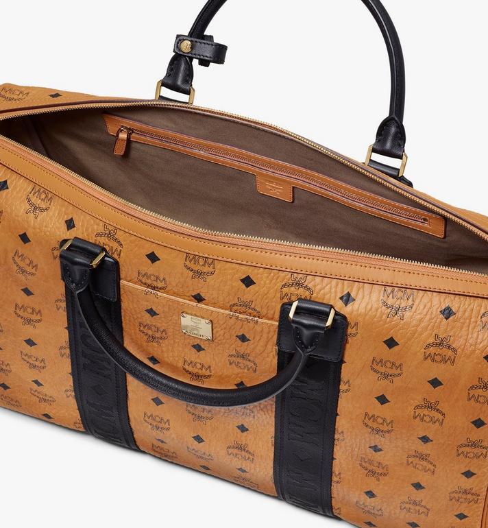 MCM Traveler Weekender in Visetos Cognac MMVASVY04CO001 Alternate View 4