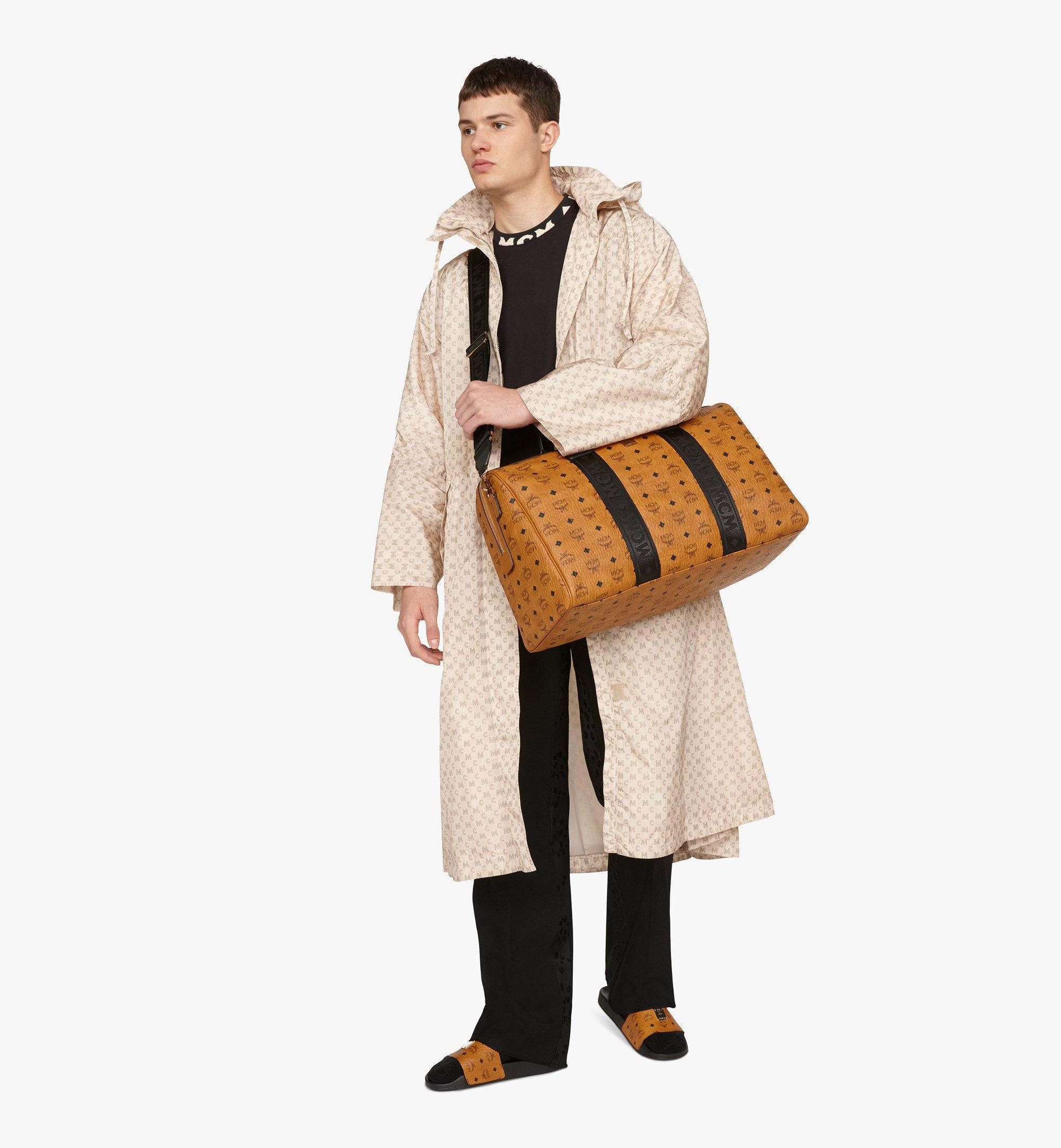 MCM Traveler Weekender Bag in Visetos Cognac MMVASVY04CO001 Alternate View 4