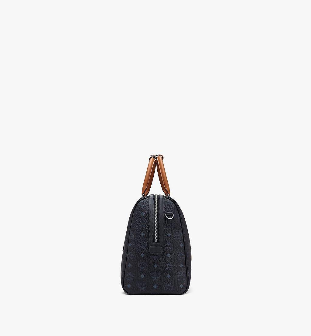 MCM Traveler Weekender Bag in Visetos Black MMVASVY05BK001 Alternate View 1