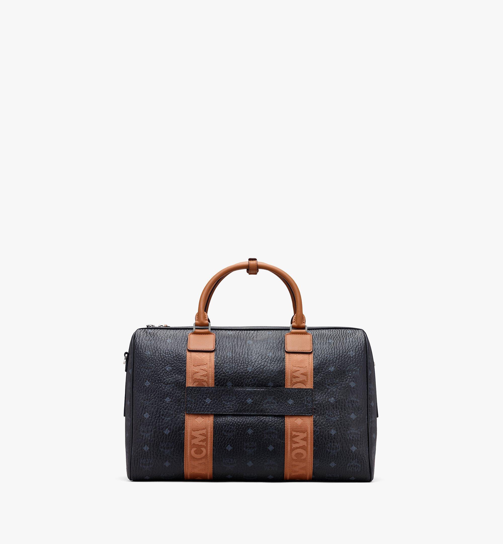 MCM Traveler Weekender Bag in Visetos Black MMVASVY05BK001 Alternate View 2