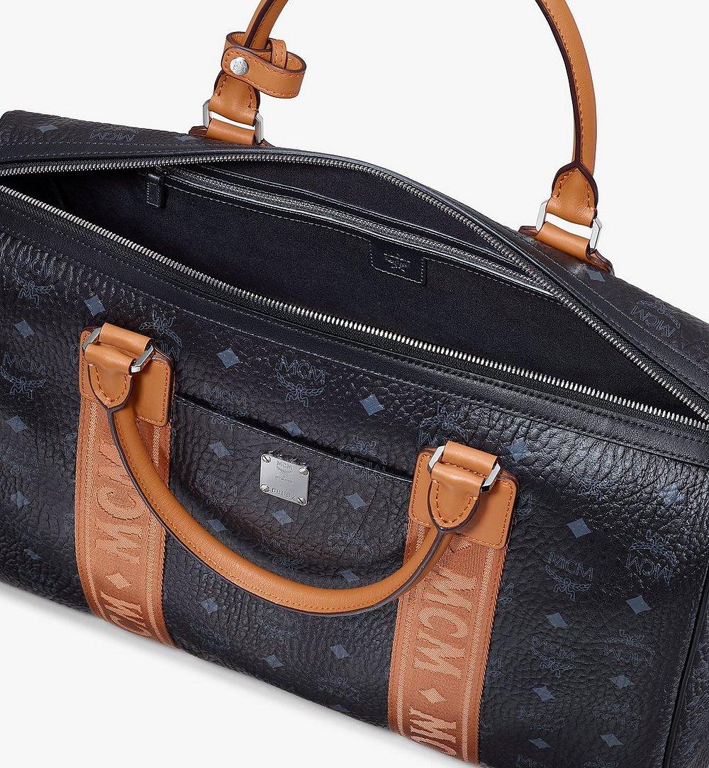 MCM Traveler Weekender Bag in Visetos Black MMVASVY05BK001 Alternate View 3