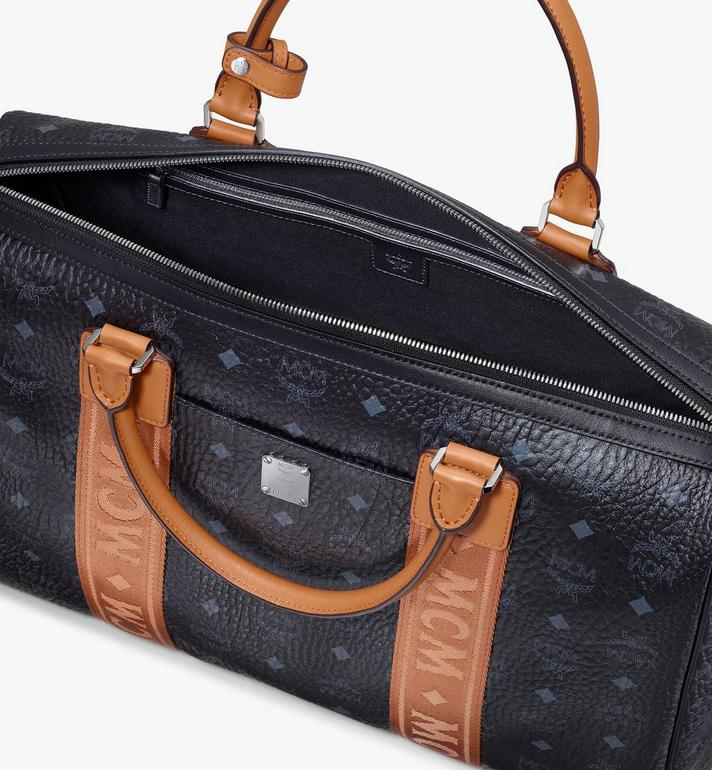 MCM Traveler Weekender Bag in Visetos Black MMVASVY05BK001 Alternate View 4