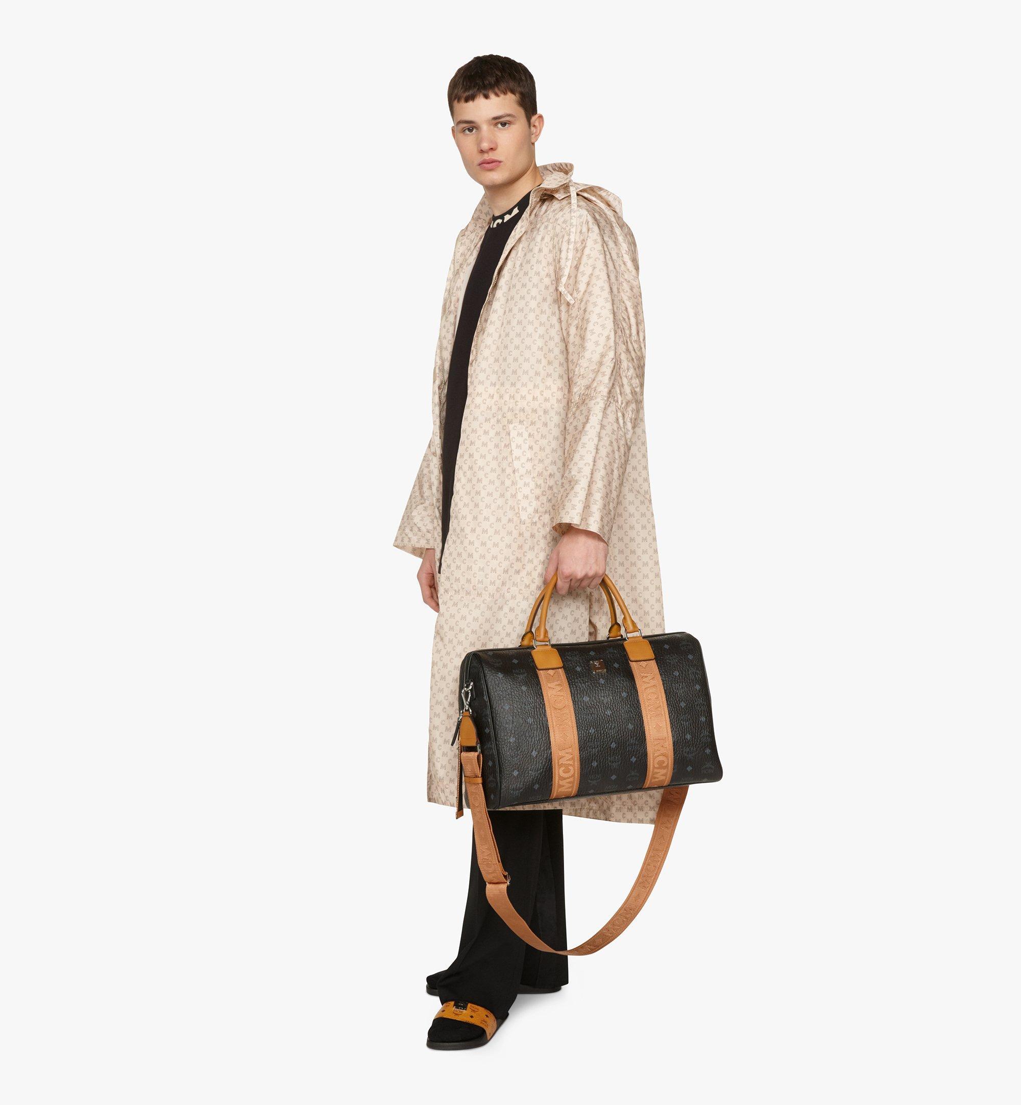 MCM Traveler Weekender Bag in Visetos Black MMVASVY05BK001 Alternate View 5