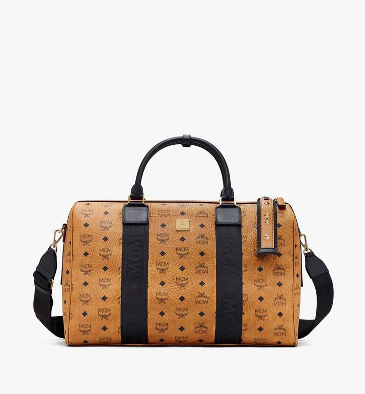 MCM Traveler Weekender in Visetos Cognac MMVASVY05CO001 Alternate View 1