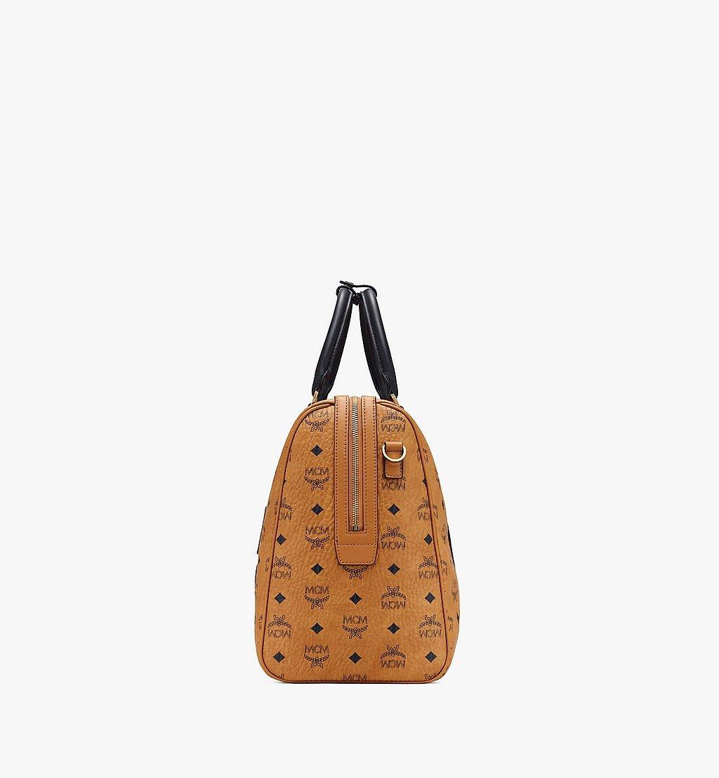 MCM Traveler Weekender Bag in Visetos Cognac MMVASVY05CO001 Alternate View 1