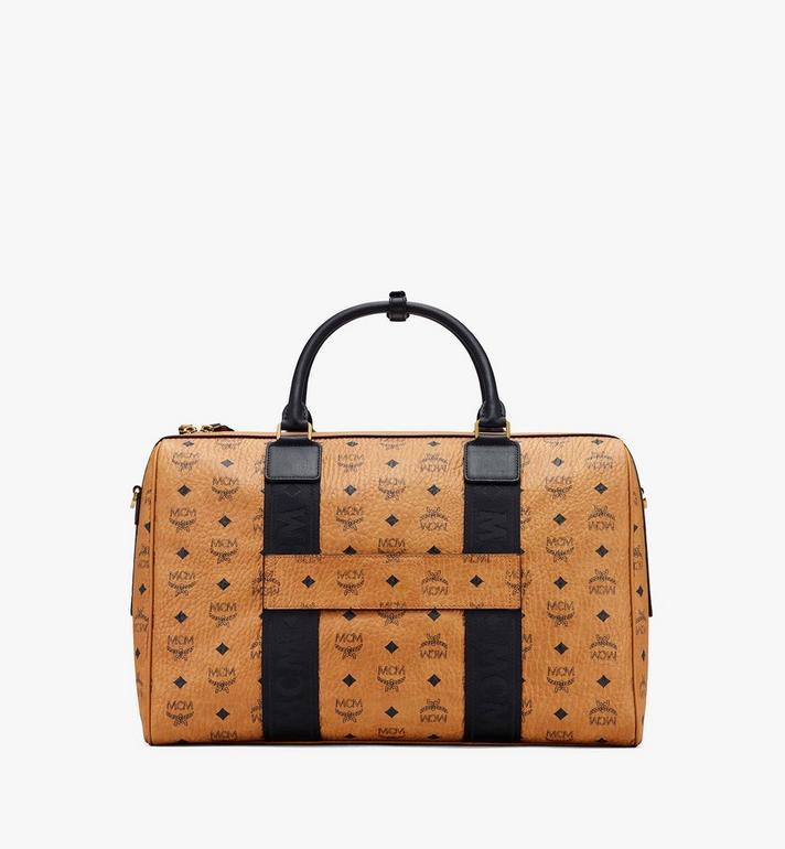 MCM Traveler Weekender Bag in Visetos Cognac MMVASVY05CO001 Alternate View 3