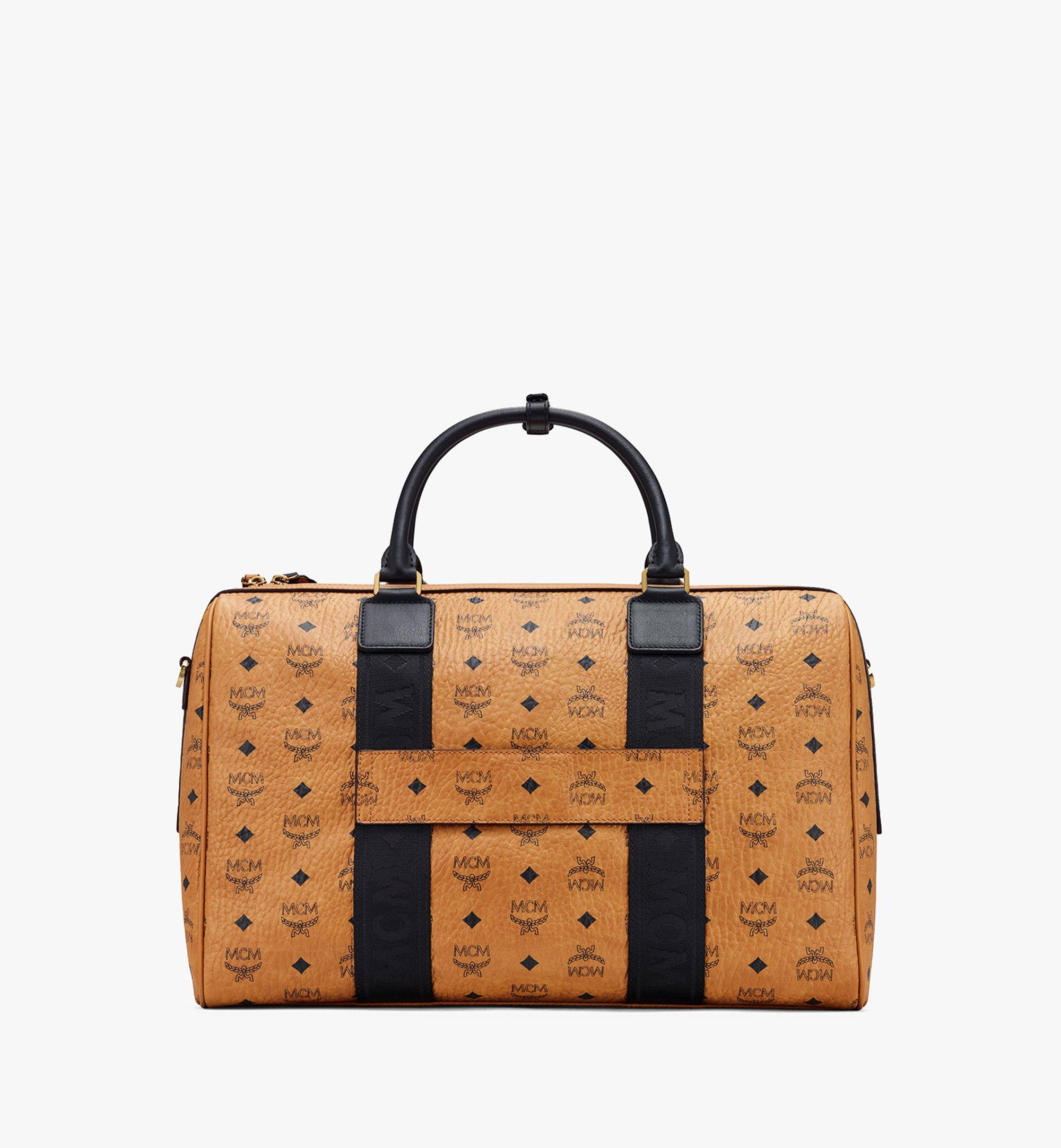 MCM Traveler Weekender in Visetos Cognac MMVASVY05CO001 Alternate View 3