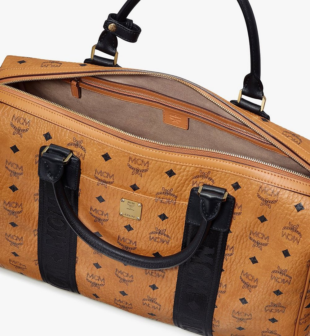 MCM Traveler Weekender Bag in Visetos Cognac MMVASVY05CO001 Alternate View 3
