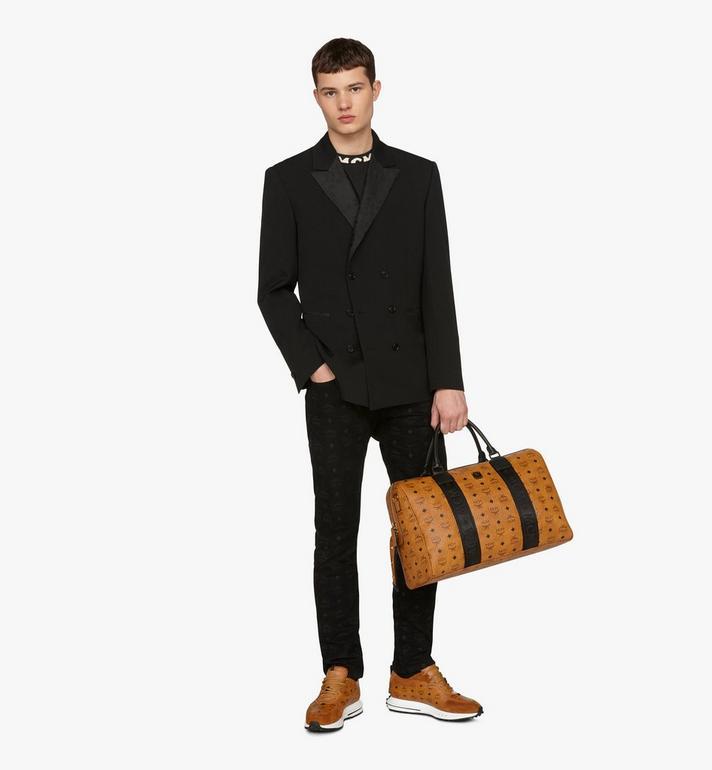 MCM Traveler Weekender Bag in Visetos Cognac MMVASVY05CO001 Alternate View 5