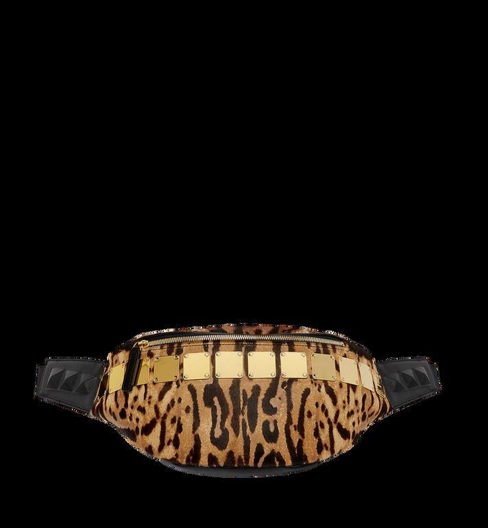 MCM Stark Logo Plate Belt Bag in Leopard Haircalf MMZ8AVE03CO001 AlternateView