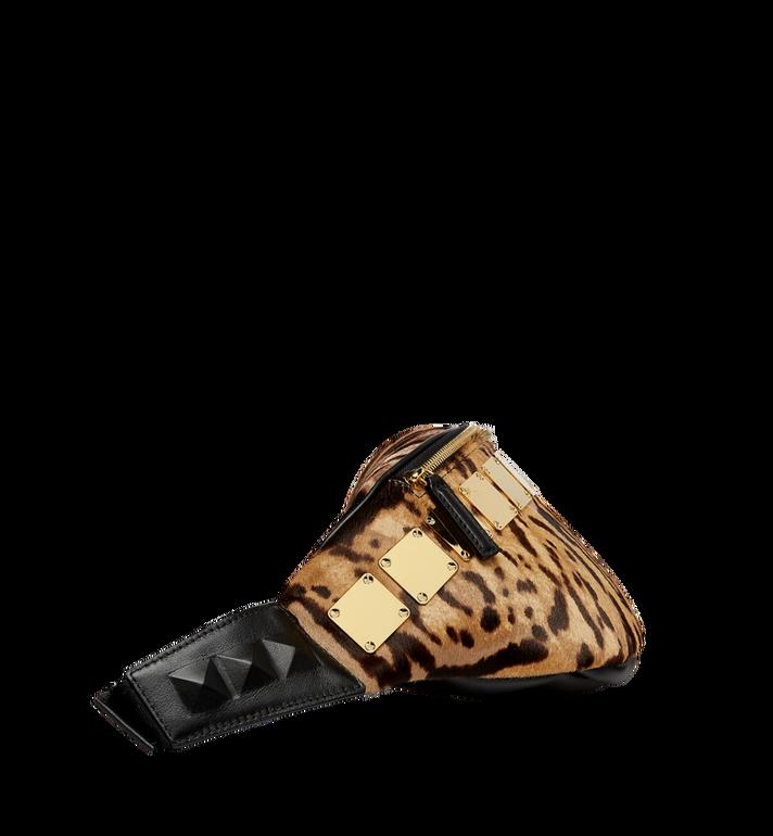 MCM Stark Logo Plate Belt Bag in Leopard Haircalf MMZ8AVE03CO001 AlternateView3