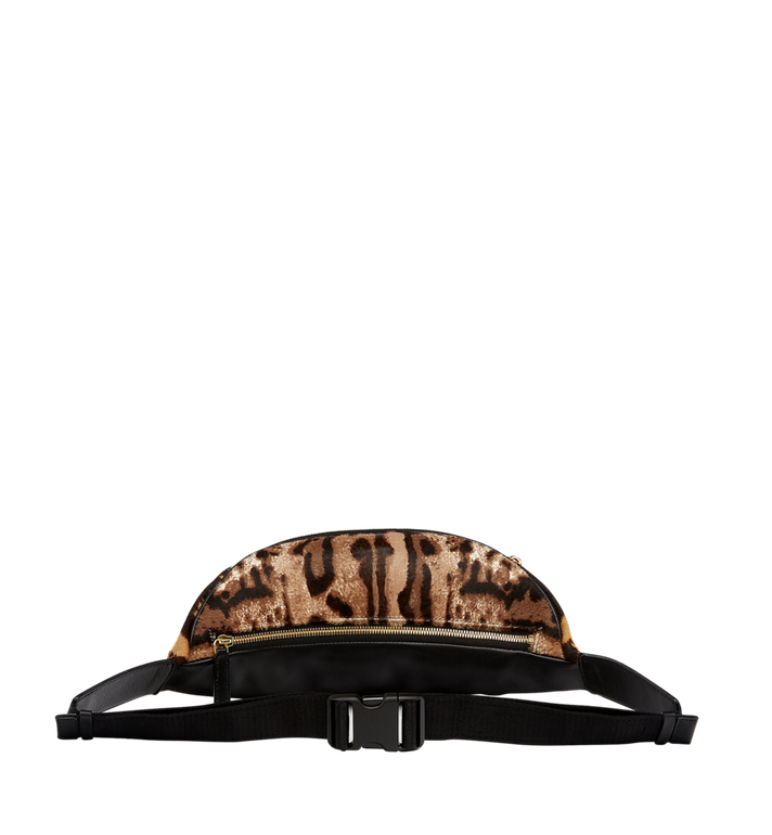 MCM Stark Logo Plate Belt Bag in Leopard Haircalf MMZ8AVE03CO001 AlternateView4