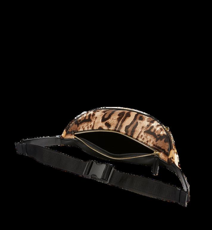 MCM Stark Logo Plate Belt Bag in Leopard Haircalf MMZ8AVE03CO001 AlternateView5