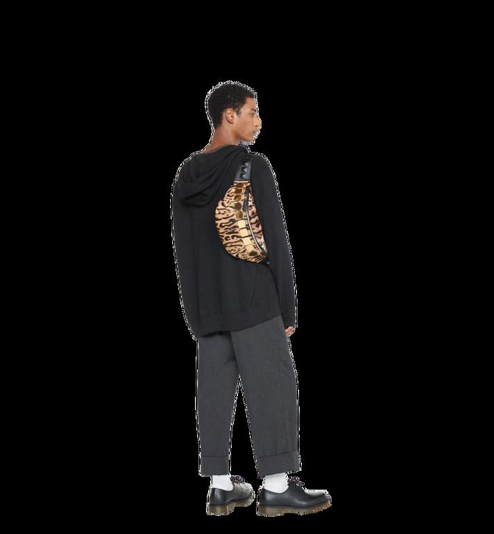 MCM Stark Logo Plate Belt Bag in Leopard Haircalf MMZ8AVE03CO001 AlternateView6