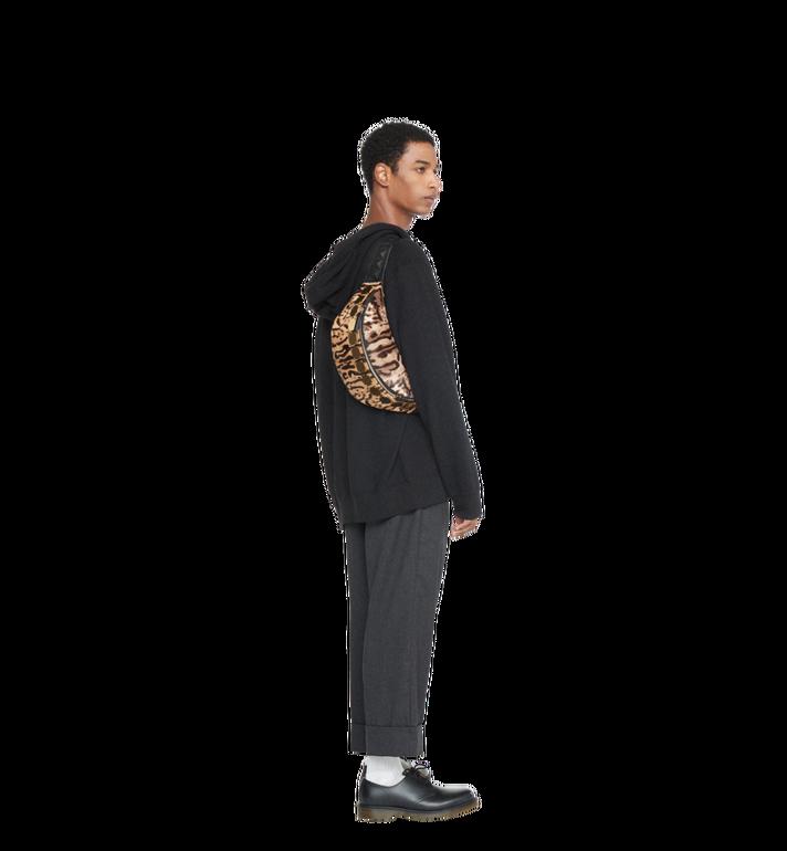 MCM Stark Logo Plate Belt Bag in Leopard Haircalf MMZ8AVE03CO001 AlternateView7