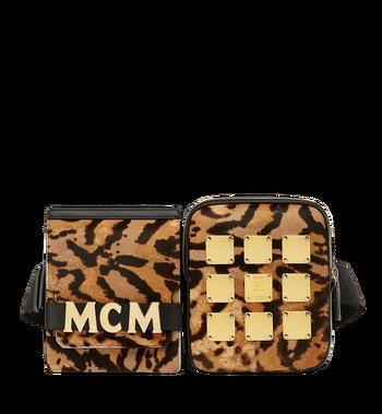 MCM 〈スターク〉レオパードヘアカーフ モジュラー ベルトバッグ MMZ8AVE05CO001 AlternateView