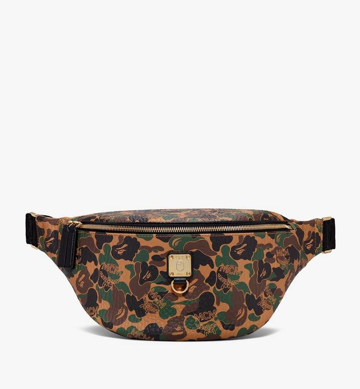 MCM MCM x BAPE Stark Belt Bag in Camo Visetos Alternate View